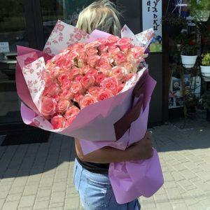101 біло-рожева роза Джумілія в Рівному фото