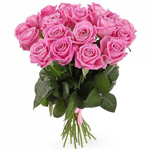 """букет 21 розовая роза """"Аква"""""""
