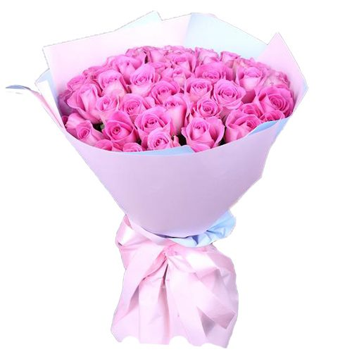 """букет 35 роз """"Аква"""" фото"""