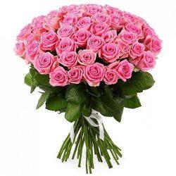 """букет 51 роза """"Аква"""" фото"""