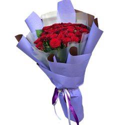 букет 33 красные розы фото
