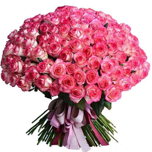 """букет 101 троянда """"Джумілія"""" фото"""