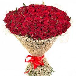 букет 101 червона троянда