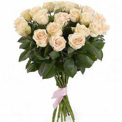 букет 21 кремова троянда фото