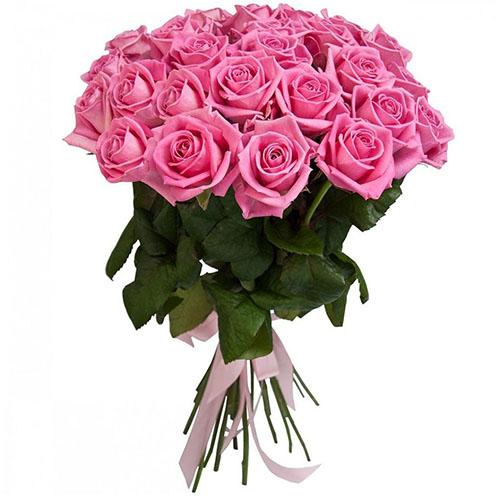 25 рожевих троянд «Аква» фото