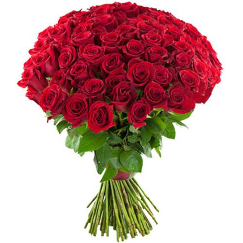 букет 75 червоних троянд