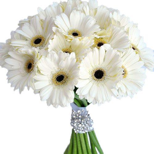 """Букет """"Білий блиск"""" хризантеми фото"""