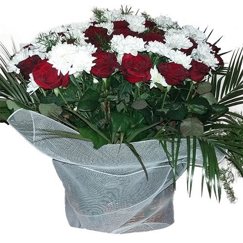 Цветы на похороны - корзина товар
