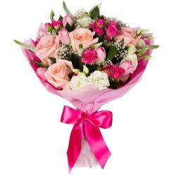Букет «Блеск» микс в розовых тонах