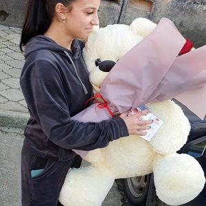 М'яка іграшка плюшевий ведмедик 80 см