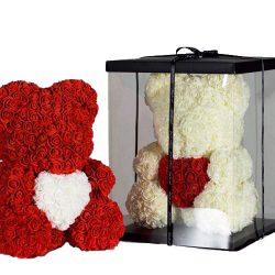 Ведмедик з троянд фото товару