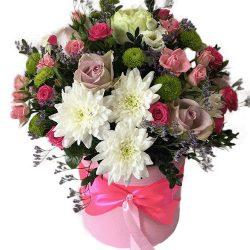 Коробка «Нежность» микс цветов