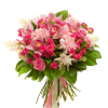 """Букет """"Ностальгия"""" микс розовых цветов"""
