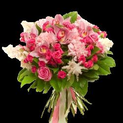 """Букет """"Ностальгія"""" рожеві квіти фото"""