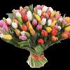 Фото товара 101 різнокольоровий тюльпан в Ровно