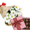 Фото товара 3 хризантемы с конфетами в Ровно