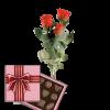Фото товара 3 красные розы с конфетами в Ровно