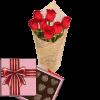 Фото товара 7 красных роз с конфетами в Ровно