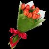 Фото товара 11 рожевих тюльпанів в Ровно