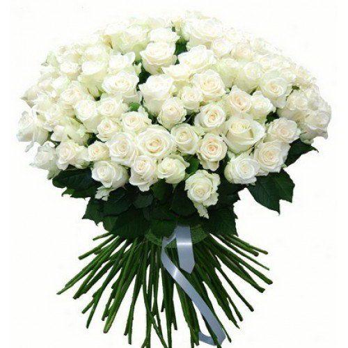 Фото товара 101 біла троянда в Ровно