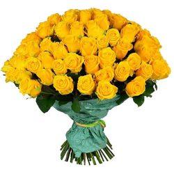 Фото товара 101 жовта троянда в Ровно