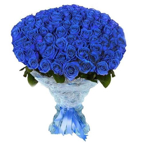 Фото товара 101 синя троянда (фарбована) в Ровно