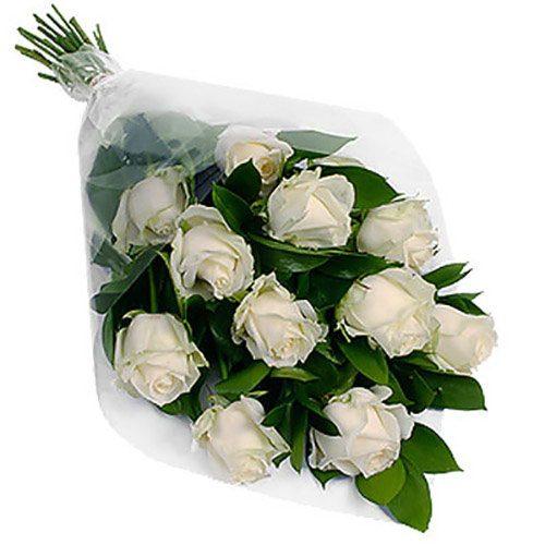 Фото товара 11 білих троянд в Ровно
