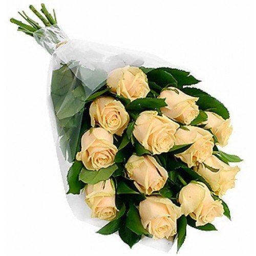 Фото товара 11 кремових троянд в Ровно