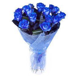 Фото товара 17 блакитних троянд (фарбованих) в Ровно