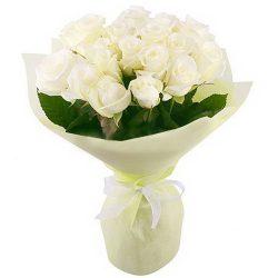 Фото товара 19 білих троянд в Ровно