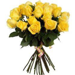 Фото товара 25 жовтих троянд в Ровно