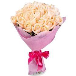 Фото товара 25 кремових троянд в Ровно