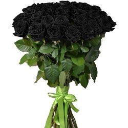 Фото товара 25 чорних троянд в Ровно
