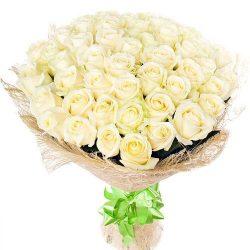 Фото товара 51 біла троянда в Ровно