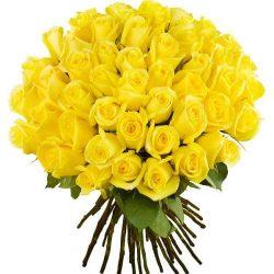 Фото товара 51 жовта троянда в Ровно