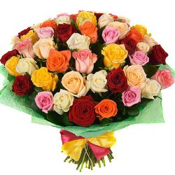 Фото товара 51 троянда мікс в Ровно