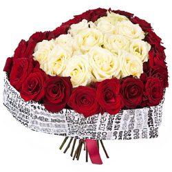 Фото товара 51 троянда серце в Ровно