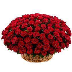 Фото товара Кошик 101 червона троянда в Ровно