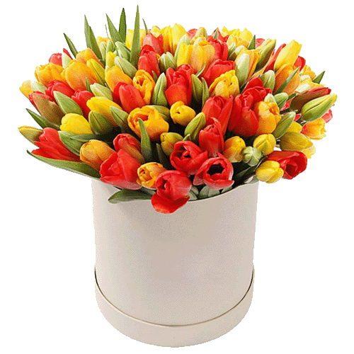 Фото товара 101 тюльпан у коробці в Ровно