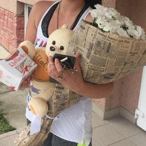 букет белых ромашковых хризантем в Ровно фото
