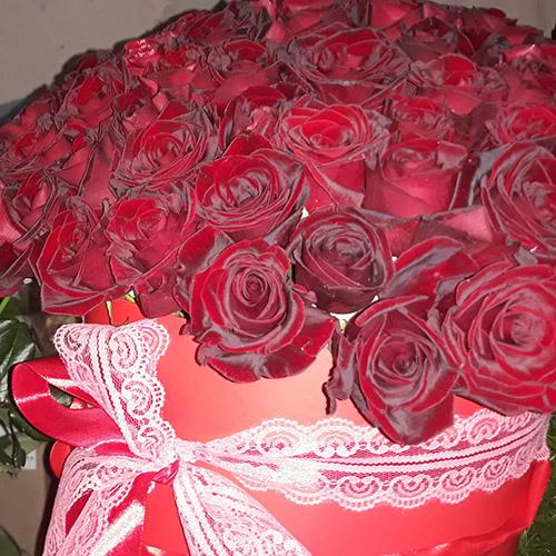 Букет красныз роз в Ровно фото