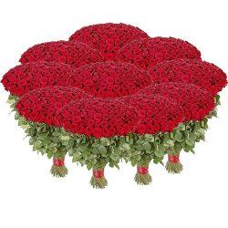 Фото товара Букет 1001 красная роза в Ровно