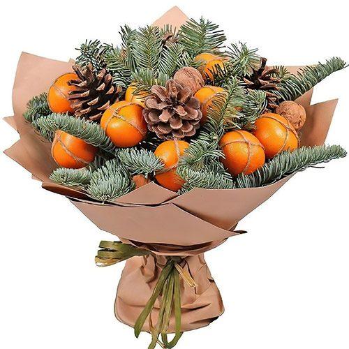 Фото товара Новогодний букет с мандаринами в Ровно
