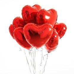 Фото товара Воздушные шарики латексные в форме сердца поштучно в Ровно