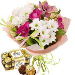 """Фото товара Букет """"С днём рождения"""" и конфеты в Ровно"""