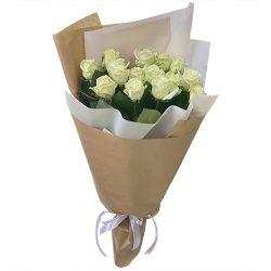 15 белых роз фото