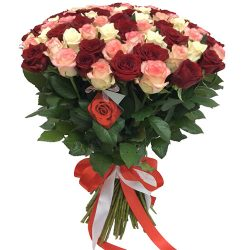 "Фото товара 101 роза ""Розовый жемчуг"" в Ровно"